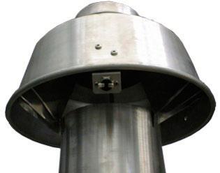 Комплект стабилизатора тяги для котлов BAXI SLIM iN с открытой камерой сгорания, 160 мм (1.400 iN, 1.490 iN)