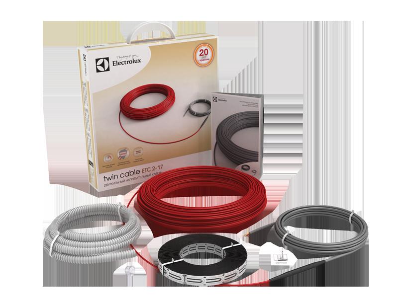 Кабель нагревательный Electrolux ETC 2-17-100 серия Twin Cable